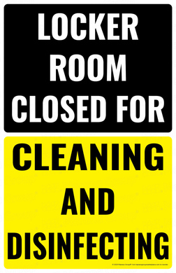 (Cleaning) COVID-19 Poster:  Closed for Cleaning and Sanitizing - Individual Poster