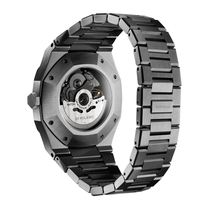 Men's Skeleton Bracelet Gun Metal Watch (D1-SKBJ02)
