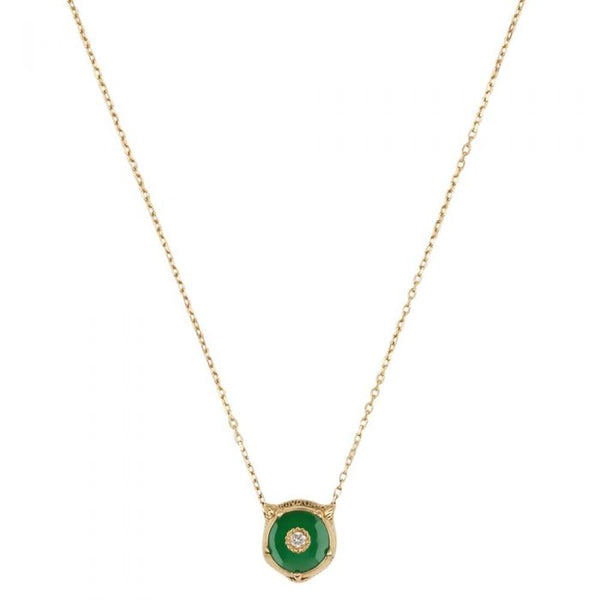 Gucci Le Marché 18ct Gold Jade Stone Necklace