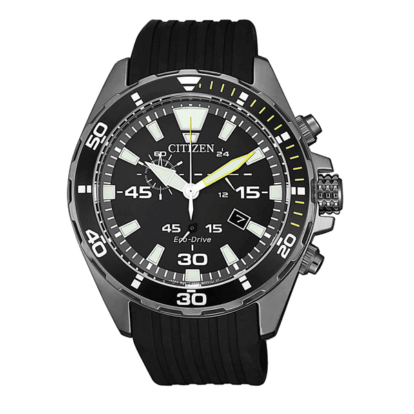Men's Eco-Drive Marine 100m Chronograph Sports Watch (AT2437-13E)