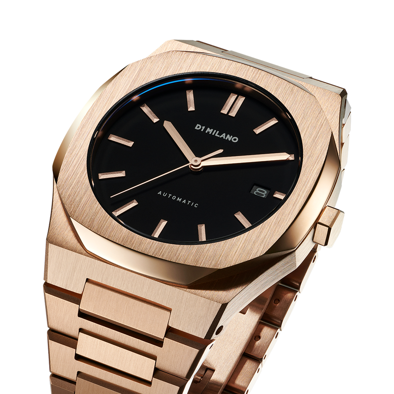 Men's Automatic Bracelet Rose Gold Watch (D1-ATBJ03)