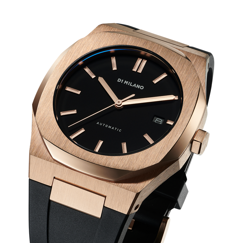 Men's Automatic Rubber Rose Gold Watch (D1-ATRJ03)