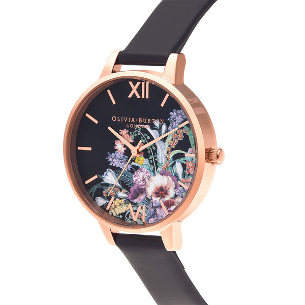 Enchanted Garden Vegan Black & Rose Gold (OB16EG155)