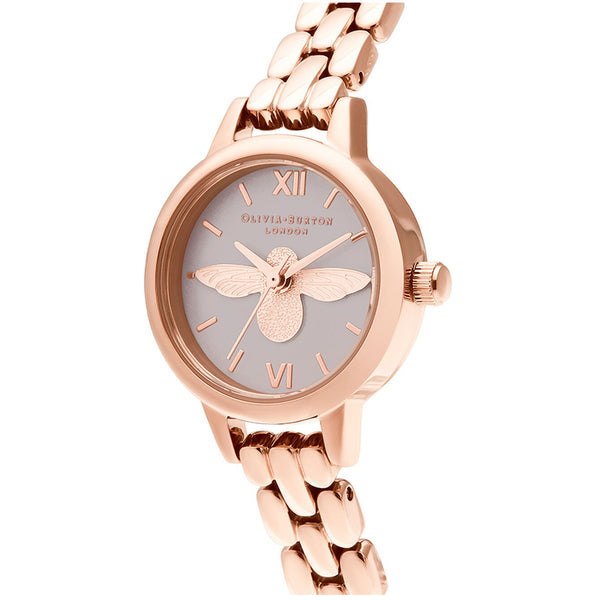 3D Bee, Blush Dial & Rose Gold Bracelet (OB16MC53)