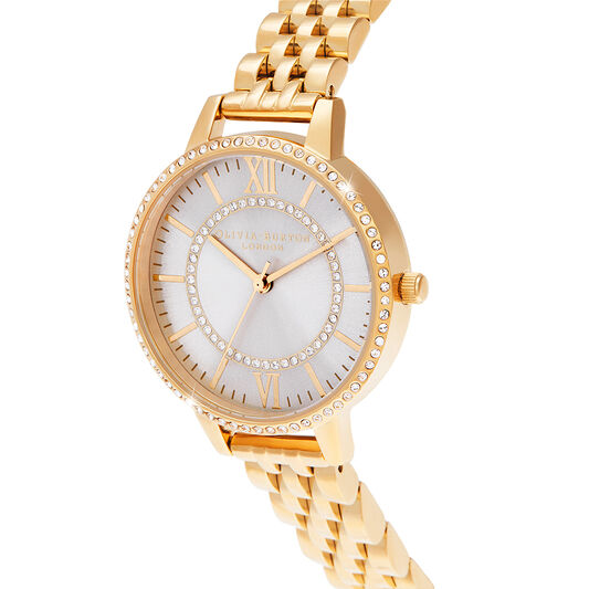 Wonderland Blush Demi Dial Gold Watch (OB16WD90)