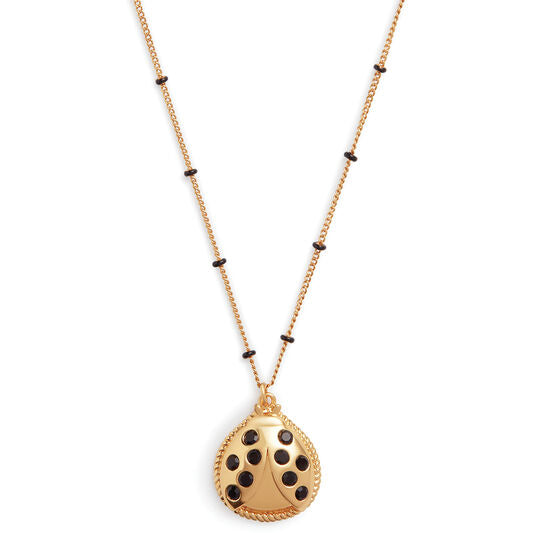 Ladybird Necklace Gold (OBJAMN73)