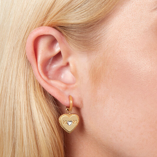 Mom Huggie Hoops Earrings (OBJLHE39)