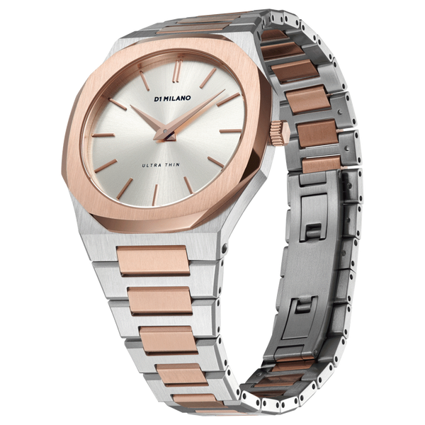 Ladies Ultra Thin Bracelet Two-Tone Watch (D1-UTBJ01)