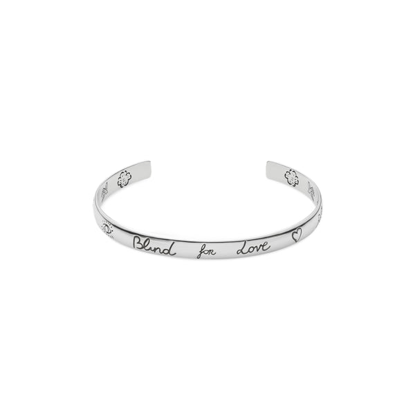 """Blind For Love"" bracelet in silver"