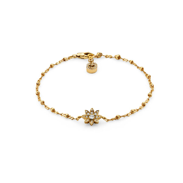 FLORA GUCCI BRACELET YELLOW GOLD & DIAMONDS