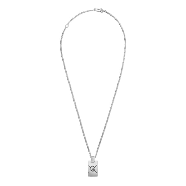 GucciGhost pendant necklace in silver