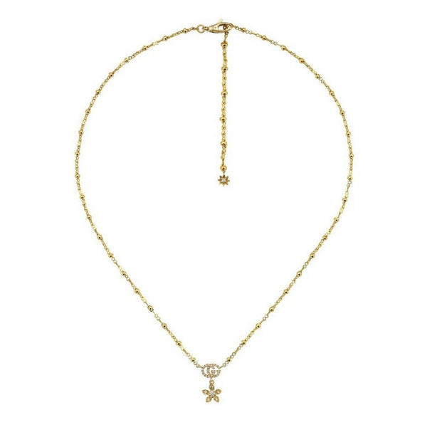 Gucci Flora 18ct Gold Diamond Necklace