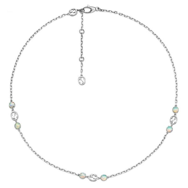 Gucci Interlocking G Opal Station Necklace