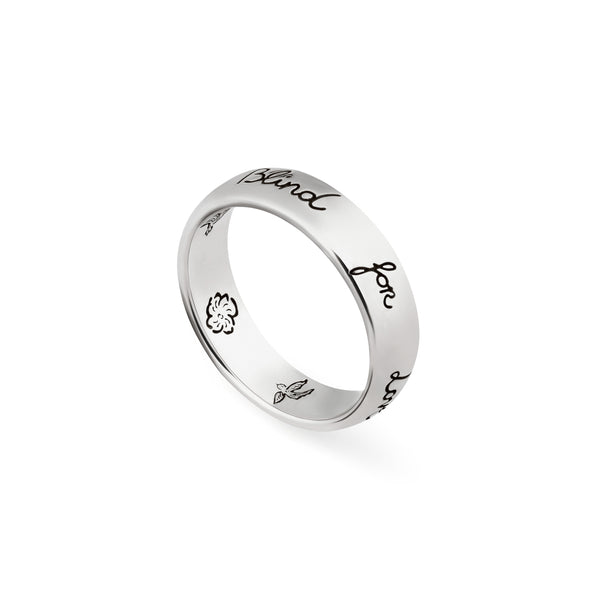 """Blind For Love"" ring in silver"