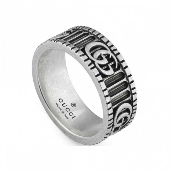 GG Marmont Sterling Silver Unisex Ring (YBC5518990010)