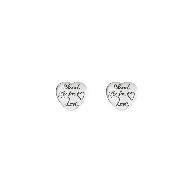 """Blind For Love"" earrings in silver"