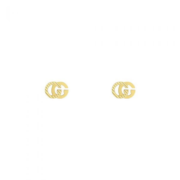 Gucci Interlocking 'G' Gold Stripe Stud Earrings