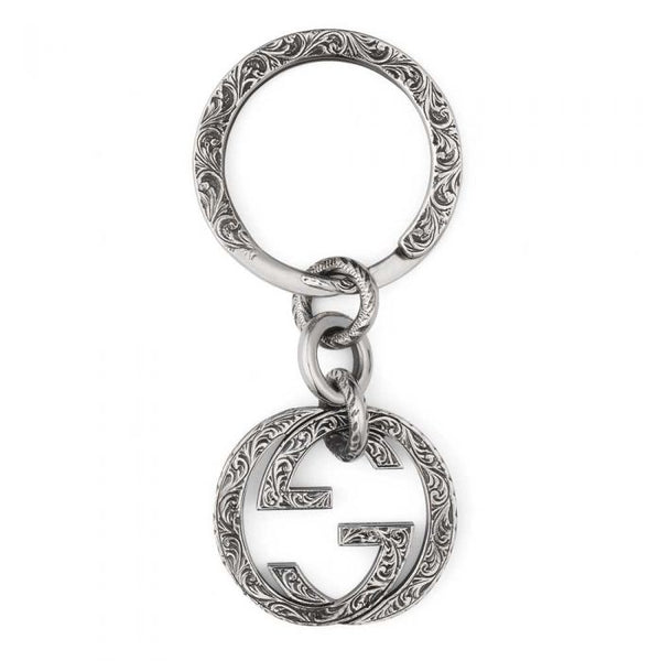 Interlocking G Silver Key ring (YBF45530800100U)