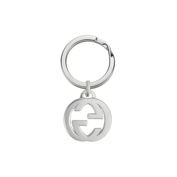 Interlocking G Silver Key Ring (YBF49903300100U)
