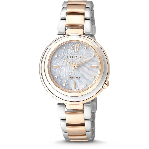 Ladies Analog Mother of Pearl Dial Watch (EM0335-51D)