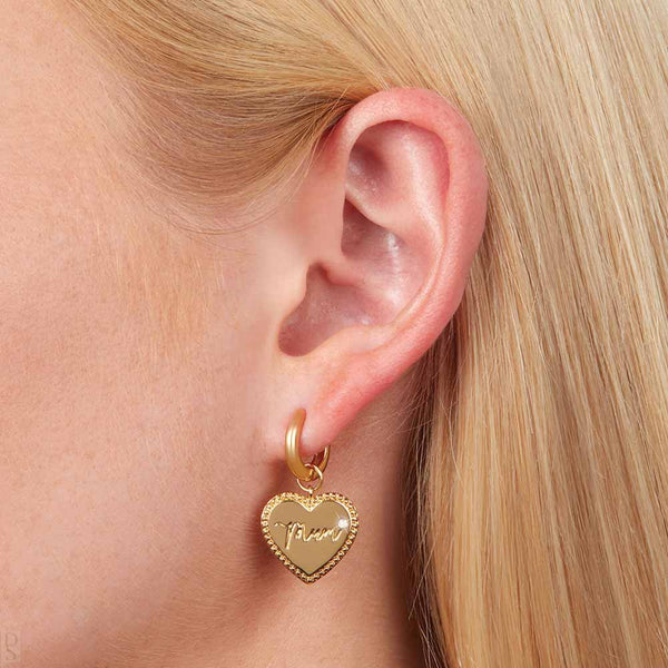 Mom Huggie Hoops Earrings (OBJLHE36)
