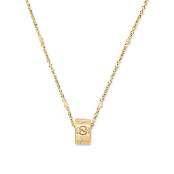 GUCCI ICON BLOOMS 18K YELLOW GOLD WOMEN'S NECKLACE