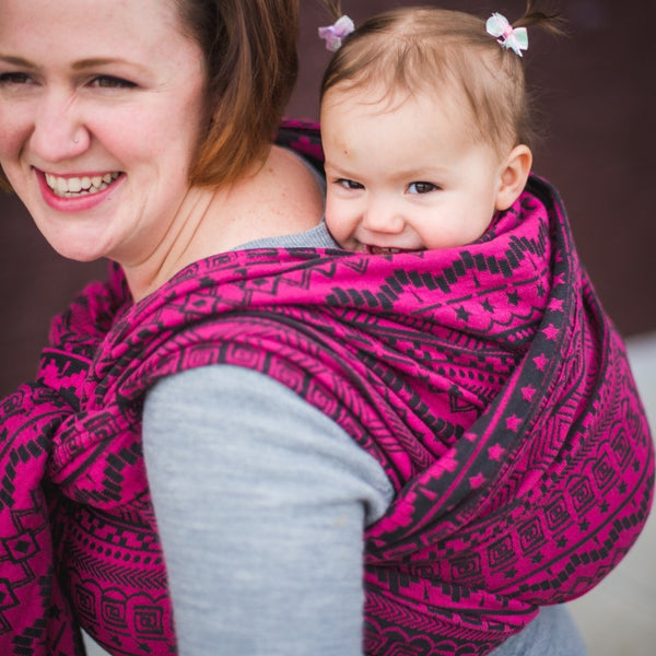 Butterfly Baby- Ring Sling- Space Invaders Ursa (Gathered Shoulder)