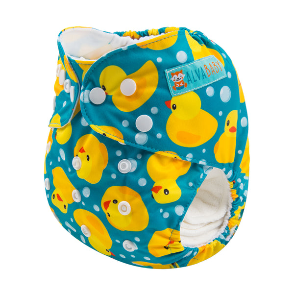 Alva Pocket Diaper- Rubber Duckie