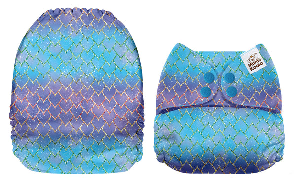 Mama Koala - EXCLUSIVE- Purple and Blue Dragon Scales