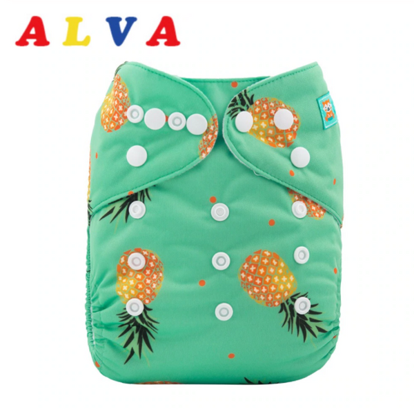 Alva Pocket Diaper- Pineapples