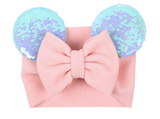 Mouse Ears Headwrap- Infant- 3YRS.