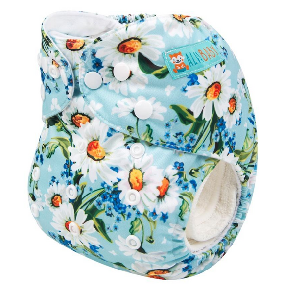 Alva Pocket Diaper- Flowers