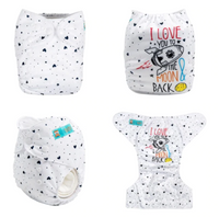 Alva Pocket Diaper- I Love You to the Moon