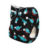 Alva Pocket Diaper- Blue Dino