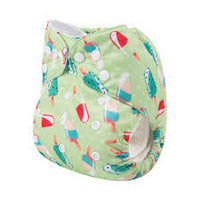 Alva Pocket Diaper- Green Popsicles