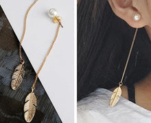 Load image into Gallery viewer, Leaf Feather Earrings - palmpé