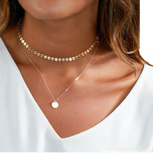 Load image into Gallery viewer, Sparkly Coins Choker Necklace - palmpé