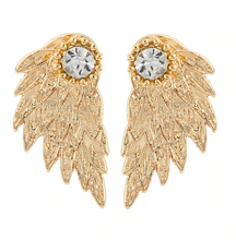 Load image into Gallery viewer, ASSEZ FEATHER EARRINGS