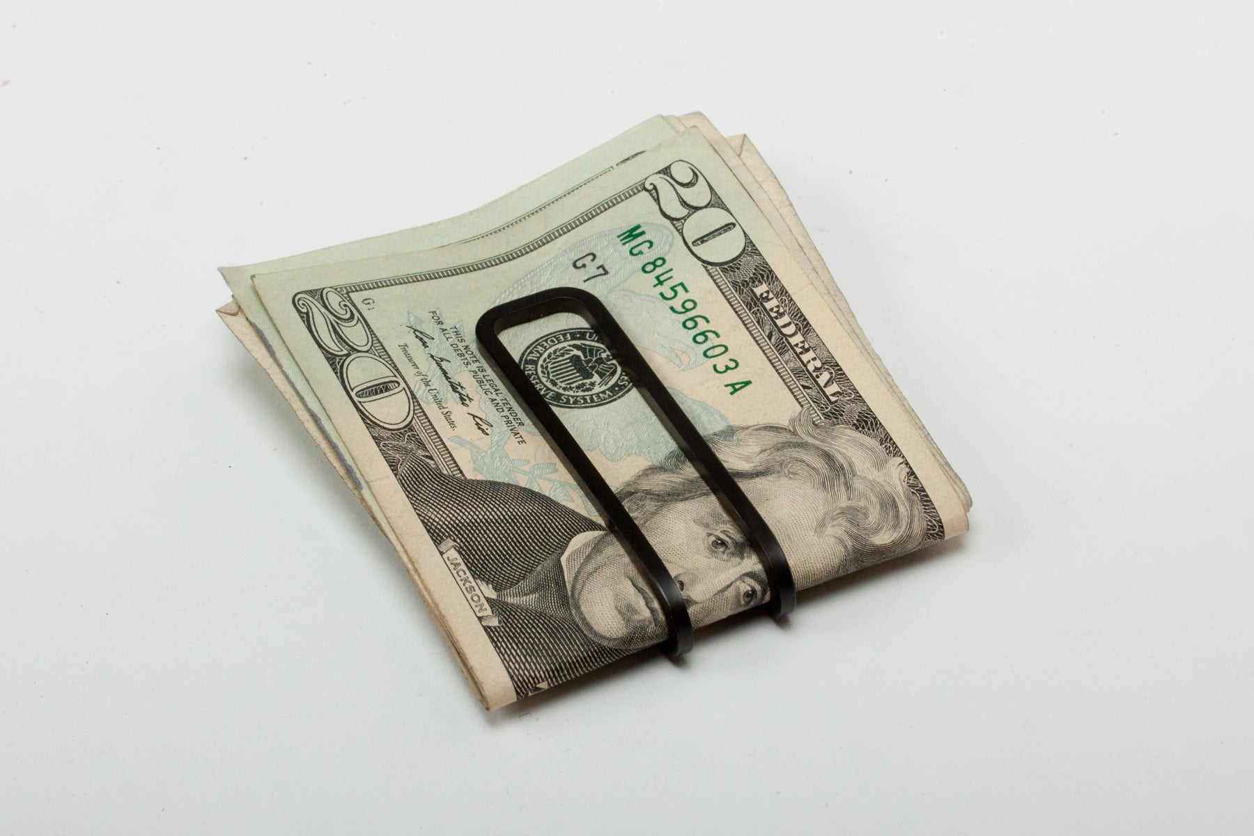 Square Money Clip - Carbon Black