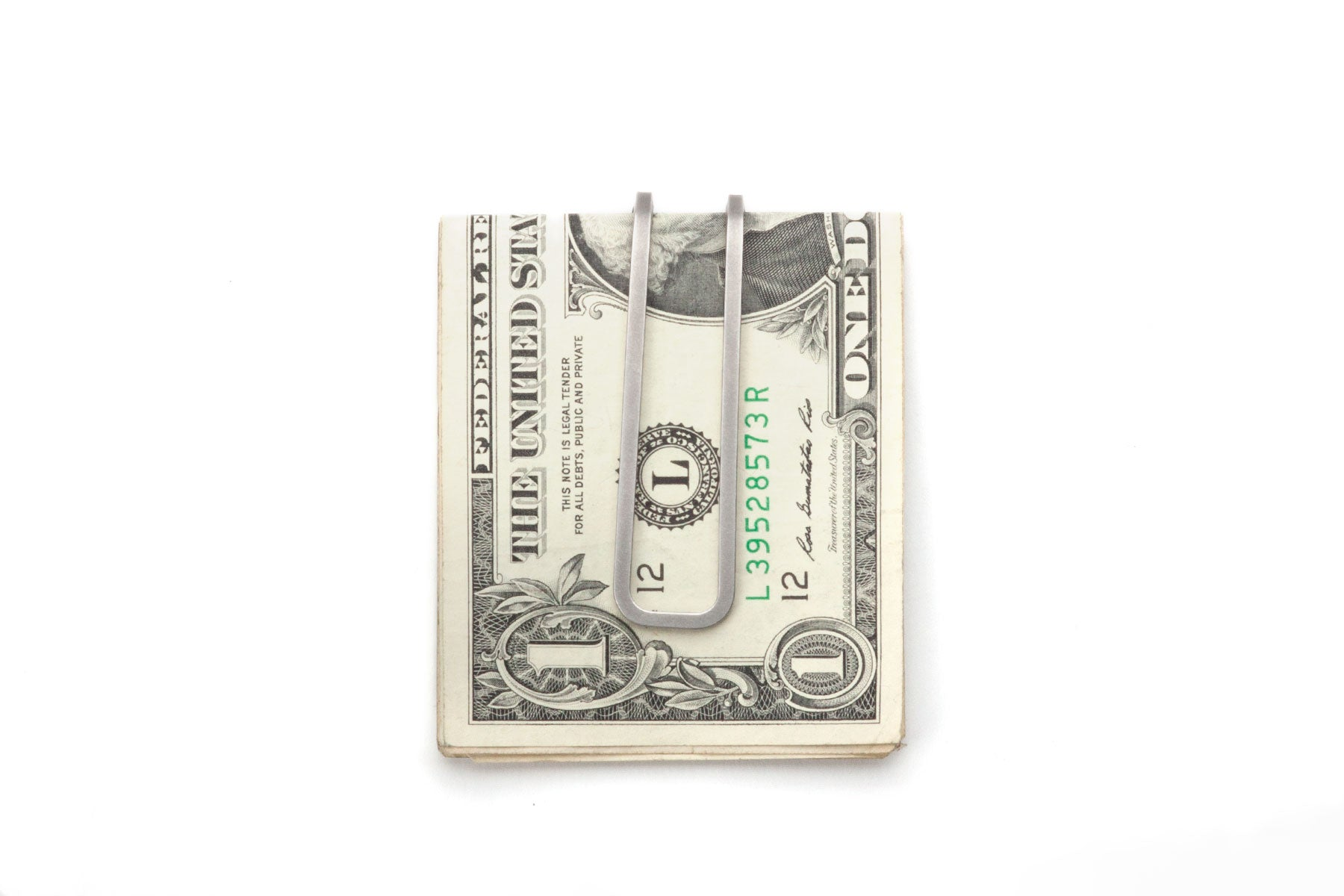 Square Money Clip - Steel