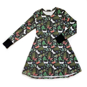 PNW Moths Long Sleeve Women's Dress
