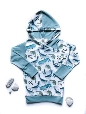 Baby Whimsical Whale Hoodie