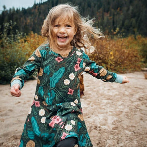 Kids Vintage Floral Twirl Dress
