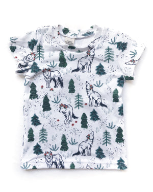 Children's Wolves in the Woods Tee