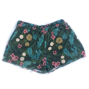Women's Vintage Floral High-waisted Shorts