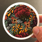 Vinyl Sticker - Bright Floral 3""
