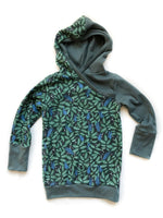 Lush Leaves Organic Cotton Hoodie - Kids