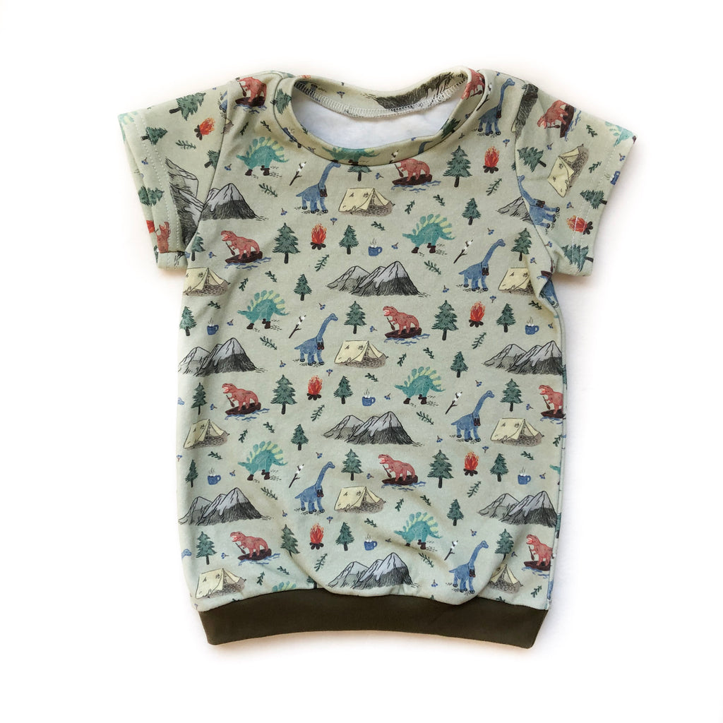 Camping Dinos Organic Cotton Tee - Toddler
