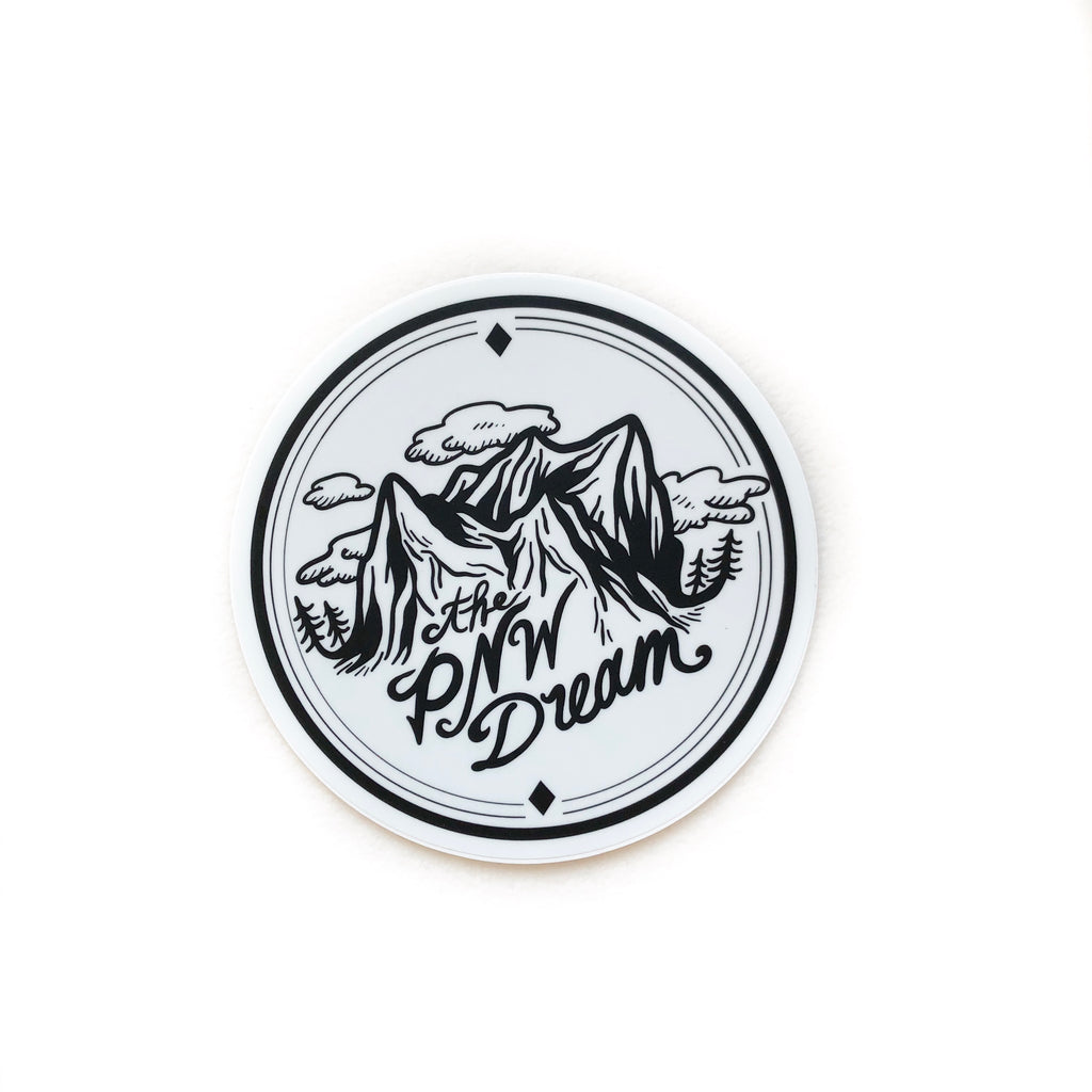 Vinyl Sticker - The PNW Dream Logo 3""