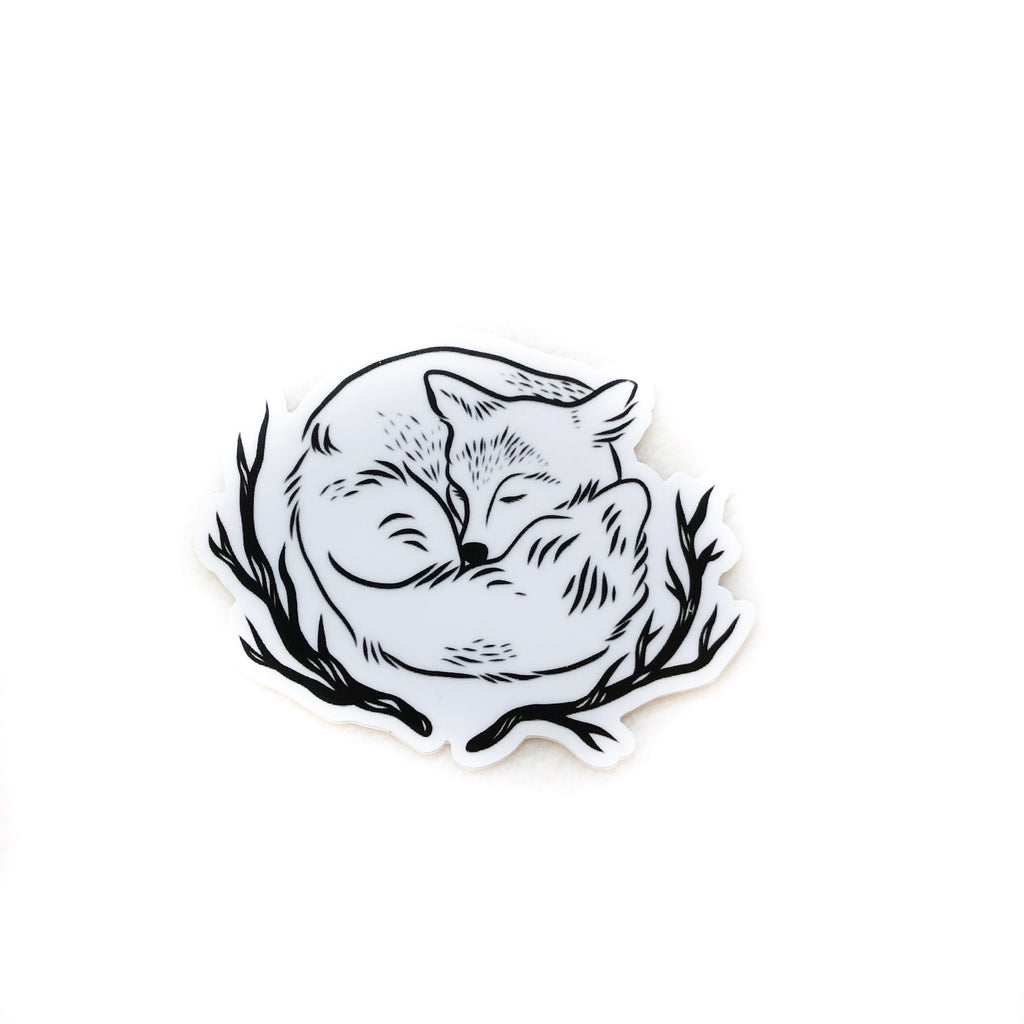 Vinyl Sticker - Sleeping Little Fox 3""